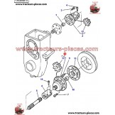 ACCOUPLEMENT TRANSMISSION PRISE DE FORCE AVANT MASSEY FERGUSON 3580604M91